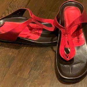 Donald J. Pliner Shoes - Donald Pliner Red Metallic Sandals